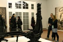 HR Giger Vernissage Leipzig / Our newest product developed with H. R. Giger, creator of the terrifying life forms and their otherworldly environment in the film classic ALIEN, for which he received the Oscar in 1980.  Fundamental to the nature of his work is his Biomechanical aesthetic, a dialectic between man and machine, representing a universe at once disturbing and sublime.  ⦿ HR Giger Absinthe ZEITGEIST 54% Vol. ⦿ HR Giger Absinthe WOLFSMILCH 69% Vol.