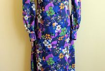 Vintage floral dresses / A selection of vintage dresses with beautiful floral patterns.