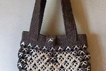 Taske formet af hjerter med hjerter af clips