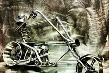 Cycle / Custom made motorcycle by Kevin Dickey.  Visit my facebook page at Custom Metal Creations.