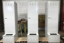 Chandler Public Safety Facility - Chandler, AZ #DeBourgh #Lockers / #HeavyDutyPersonnel #AshGray #SentryOneLatch #PianoHinge #LouveredVentilation #DeBourgh #Lockers