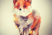 animals paint / animal drawing, paintings, arts, by watercolor