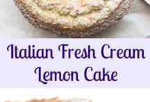 Recipes / Italian fresh cream lemon cake