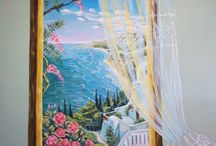 Trompe -L oeil  (autore M. Sambur ,O.Suprunovskij) / Pittura sul muri realizata a Russia ed Italia