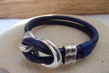 Leather bracelet / Handmade leather and silver jewellery