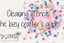 TCW Stencils - Care & Storage / How to store and clean The Crafter's Workshop Stencils #TCWstencillove  www.thecraftersworkshop.com/blog
