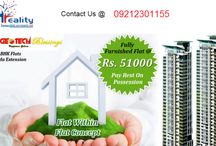 Geotech blessings / Geotech blessings are provides a world-class residential community over approx 50 sprawling acres, our campus are best the facilities where everyone home is designed to demand.  We are planned (2,3,4 bedroom) and luxury villas over a green area  are provide you. Book Your 2/3 BHK Fully Furnished Home @ 51,000. with Modular Kitchen, Complete Wood Work, Air- Conditioner fitted in all roooms etc. Pay The Rest On Possession. Call at now: 09212301155