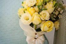 Flowers yellow green white