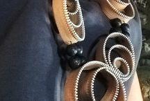 zipper jewellery / handmade
