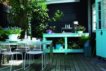 • Outdoor Living / ✿ Porches, Patios, Outdoor spaces / by Kari Gundersen