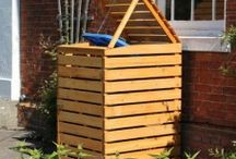 Wooden Wheelie Bin Covers / #wheeliebincivers #Wheeliebinstore #woodenbinstore