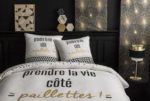 Des parures de de lit pour avoir la banane au réveil ! / Citations, expressions, idées positives... De quoi nous mettre en forme dès le réveil ! Mais surtout faire de beaux rêves dans du linge de lit de qualité.