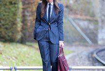 Sartorial look, tailoring, boyish...