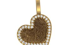 Valentine's Day Jewerly Designs / Custom fingerprint, thumbprint, baby footprint and hand print jewelry designs for Valentine's Day by Imprint On My Heart