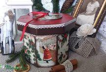 Merry Christmas ( karácsonyi dobozaim) / Imádom a telet, imádom a karácsonyt, imádom készíteni a karácsonyi tárgyakat.