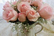Flores e tecidos