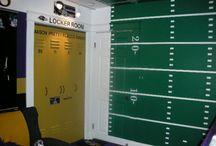 Touchdown! Football bedroom / Football bedroom for a boy. #panthers #buffalobills #keeppounding #kellystrong