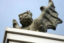 Culpeper Gargoyles / These unique Gargoyles appear randomly downtown on the rooftops throughout historic Culpeper's downtown.  See if you can spot one but be forewarned just when you find one it could reappear somewhere else.  Share your sightings with us!