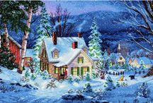 Festive scenes to stitch / As the temperature drops and the merry season grips up, we wanted to share our top festive and wintery scenes for you to stitch.