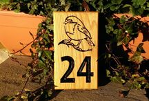 Wooden Personalised Oak House Number Signs / Looking for a solid oak engraved house number sign? Check out our website: www.bramblesigns.co.uk