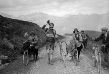 Tour de France and Giro (historical foto)