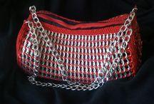 Bolsos de chapas / Bolso de mano hecho con hilo mejicano. 50, 00 euros