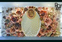 Бумажный цветок стены