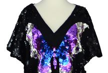 Vintage Sequined Tops / Vintage sequined tops are versatile and easy to wear.  For a night out on the town, wear with skinny jeans.  For cocktails, wear with a pencil skirt.