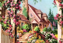 Uma casa para chamar de minha / Minha casa dos sonhos é a soma de várias ideias sobre arquitetura, jardim e decoração. Apenas uma ideia, que um dia, provavelmente, sairá do imaginário.