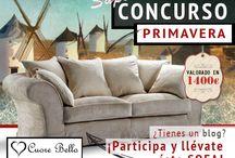 CONCURSO de Primavera para bloggers / ¿Tienes un blog? Gana este preciosos y elegante sofá valorado en 1.400 €. Más info aquí: http://www.cuorebello.es/index.php/blog/concurso-de-primavera-para-bloggers-2/