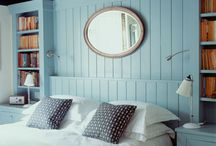 bedroom painted wooden panels