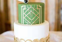 Anniversary for L & D ideas by SHE / Music Theme, Green, Royal Blue.  Gold and Silver Accents. Fun!