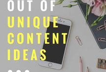 BLOG IDEAS / Content creation ideas, content writing, content creation tips, blog post ideas.