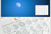 měsíc a planety