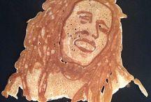 Hedcakes / Pancake art. Because circles are boring.