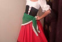 Italian Tarantella Costume