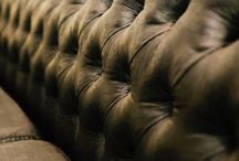 Painted leather couch / by Robin Girouard