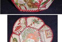 вязанные корзинки и шкатулки 60-70 годов