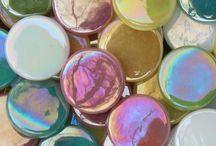 Mosaic - Penny Rounds / 18mm Mini Rounds - 4mm depth  Get them at Kismet Mosaics.