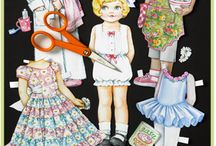 PLAY • Paper Dolls / Paper Dollies are every little girl (and big girls) outlet for fashion and creativity!