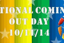 National Coming Out Day / As National Coming Out day approaches, take a moment to  reflect on your coming out story with the Military Partners and Families Coalition. The strength and courage it takes to be out and proud should not to be overlooked. The strength and courage it takes to be out, proud AND fight for our country is unprecedented. Stand up! Be heard! It is YOUR day to be OUT and PROUD! ‪#‎Bornthisway‬ ‪#‎OutandProud‬ ‪#‎LGBTMilitary‬