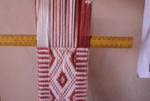 telar mapuche / tejidos en telar mapuche hechos por mi .