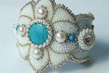 Bead embroidery - bracelets