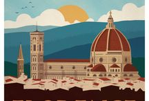 Italy travel posters