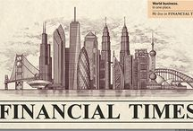 Financial Times of London illustrated by Steven Noble