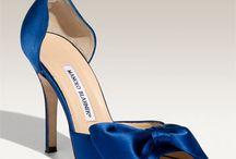 Zapatos de color azul