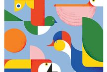 Illustrations • colorful shapes