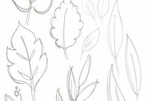 leafs, autumn, wreath drawing
