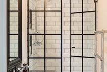 Crittall glass shower enclosures