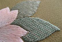 CHINESE - Japanese,  silk Embroidery / ricamo su seta